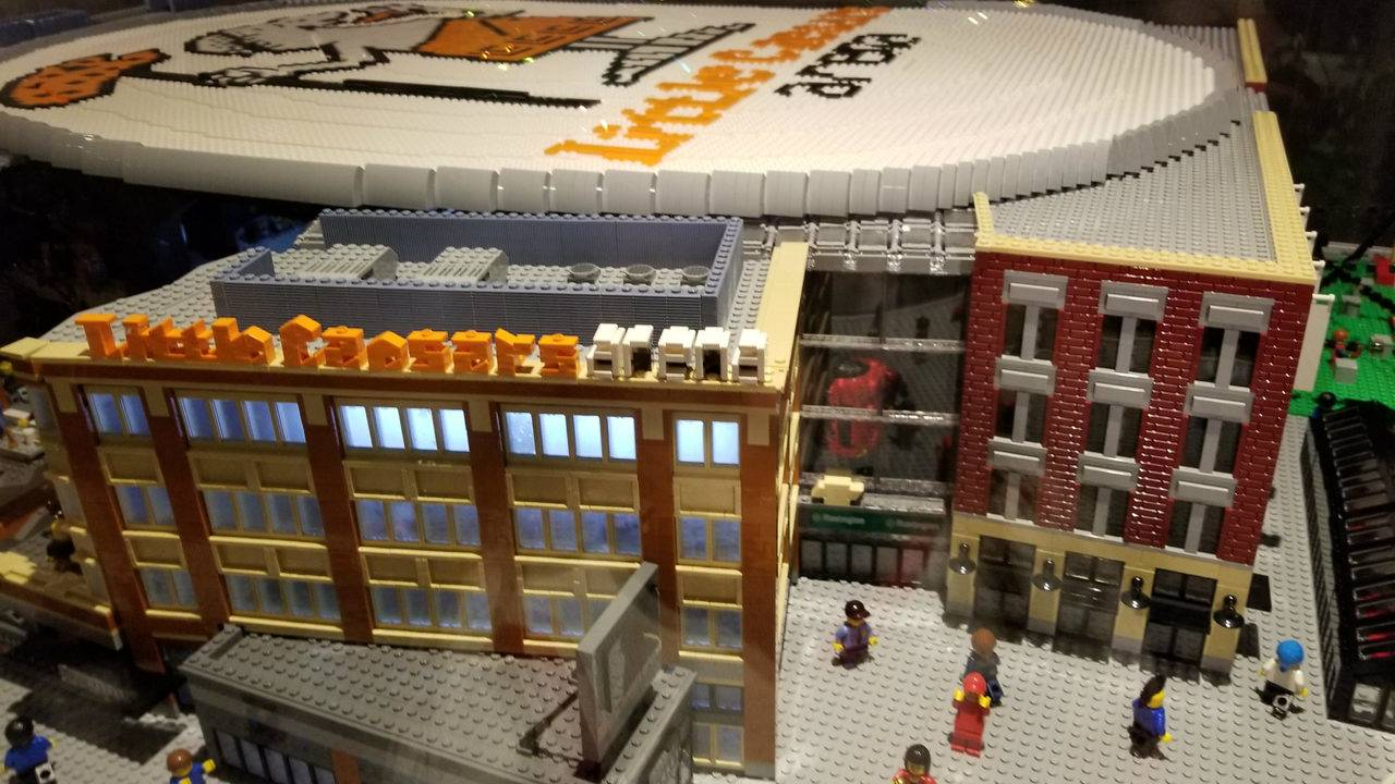 LEGO replica of Little Caesars Arena unveiled during Red Wings game 94e3dbe5e
