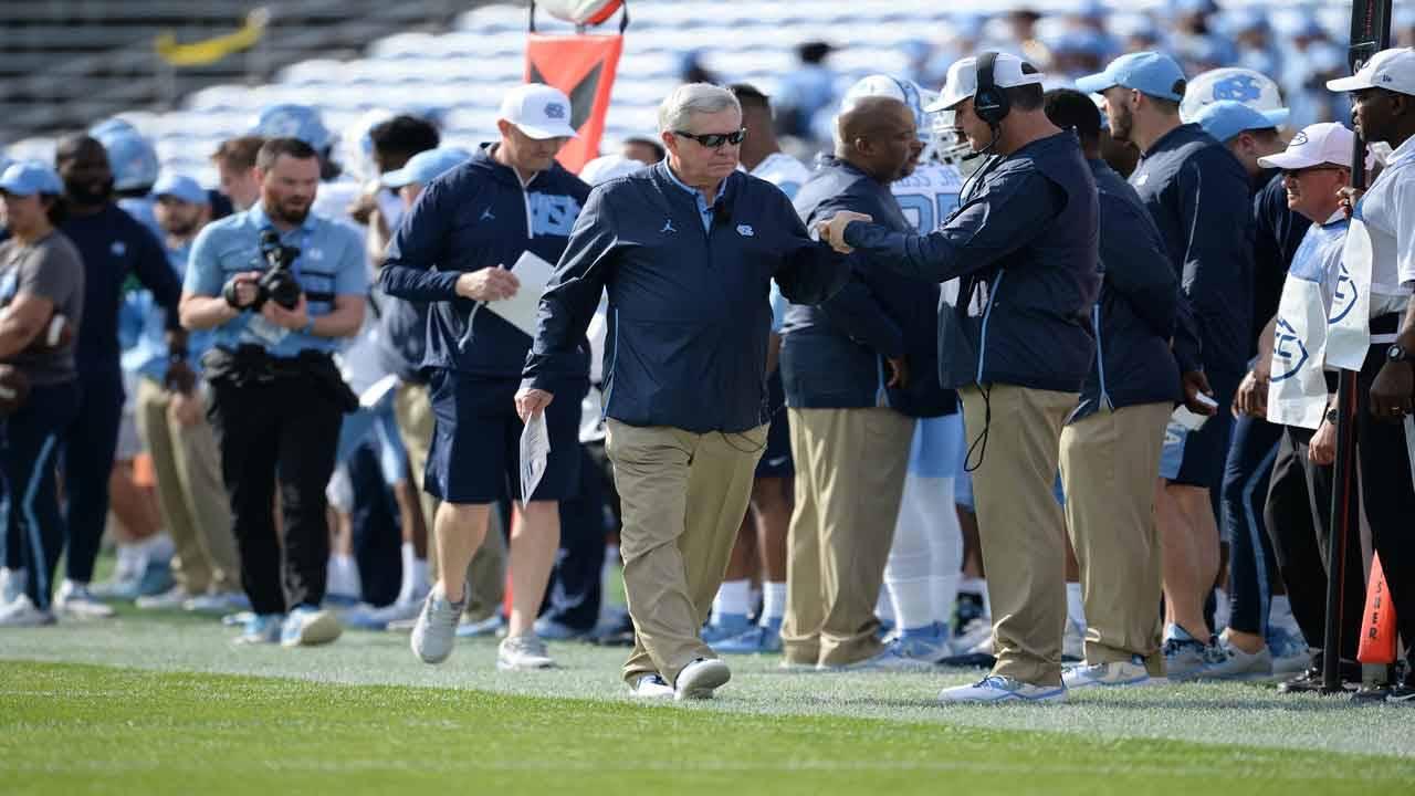 North Carolina Tar Heels head coach Mack Brown