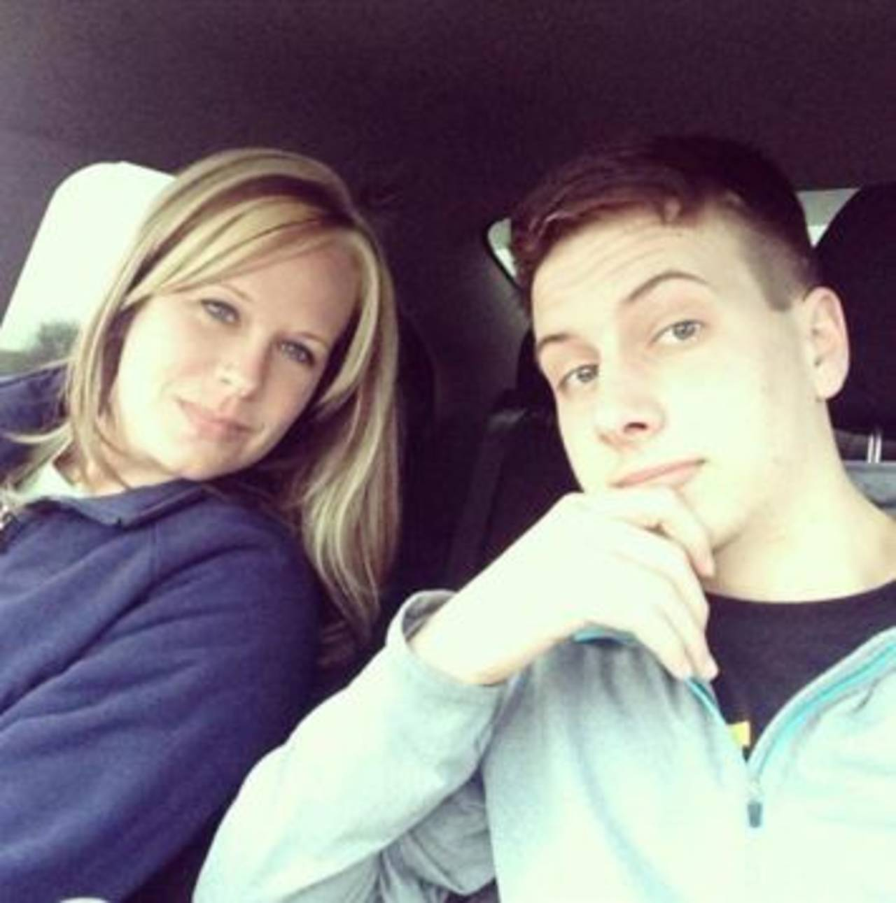 Danette Robertson with son