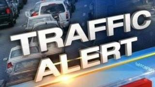 TRAFFIC UPDATE: All SB lanes of Old St Augustine Rd at