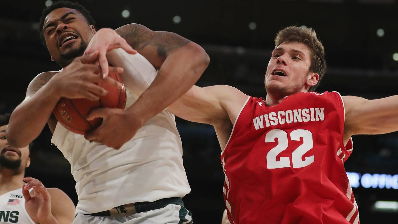 Michigan State basketball vs Wisconsin 2018 Big Ten Tournament