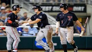 Texas Tech stuns Gators 6-3 in College World Series opener