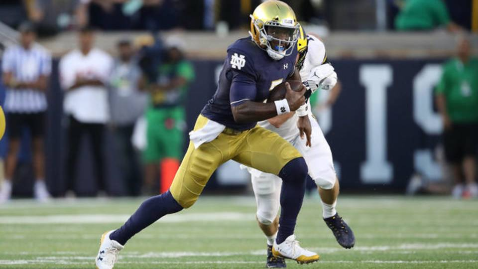 Brandon Wimbush Notre Dame vs Michigan 2018