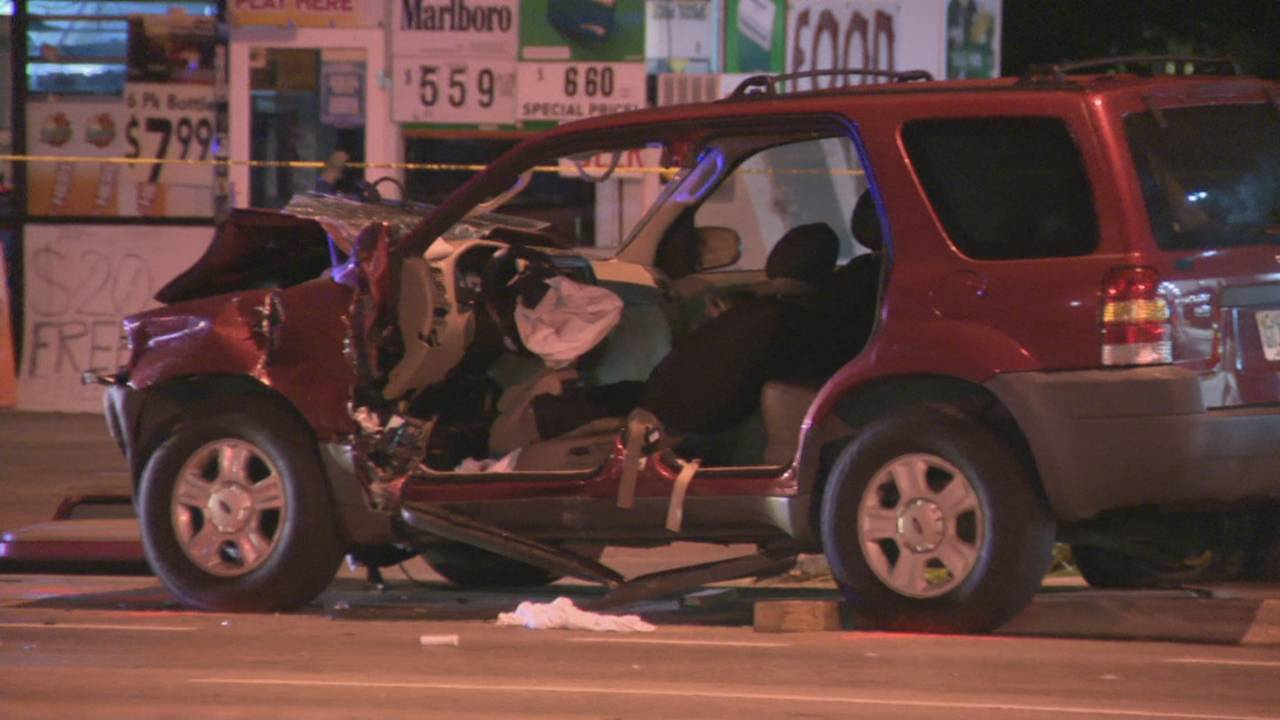 SUV involved in crash after stolen truck with baby inside