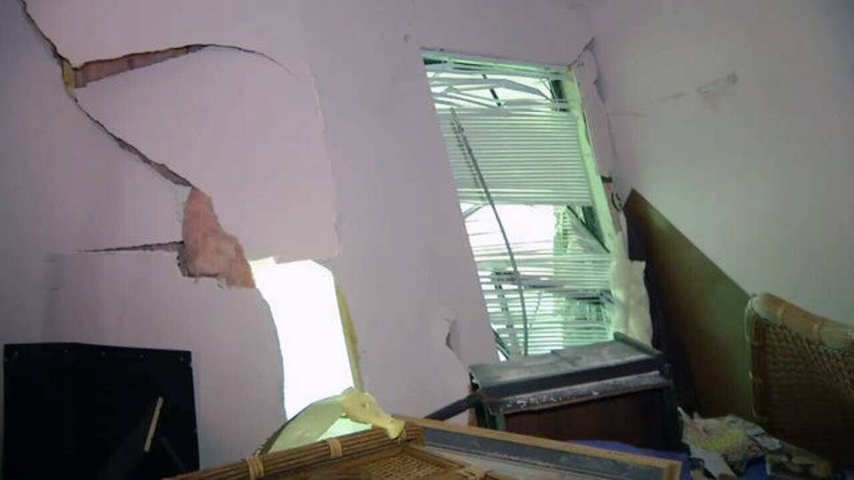 Inside of Jacksonville Beach home hit by SUV