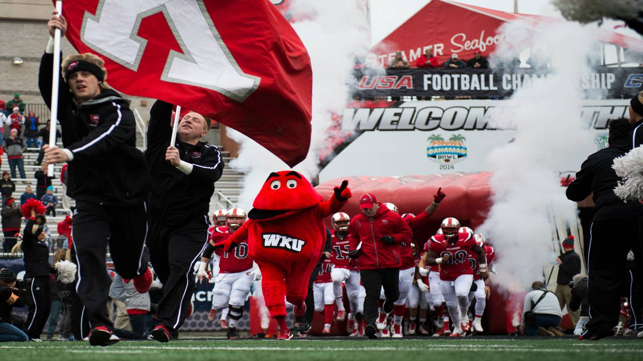 Big Red, Western Kentucky Hilltoppers mascot, at C-USA Championship in 2016