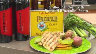 H-E-B Grilled Chicken with Roasted Broccolini Pesto