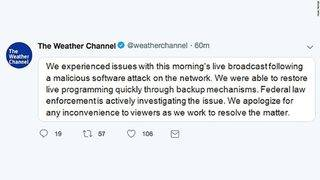 The Weather Channel knocked off air by 'software attack'
