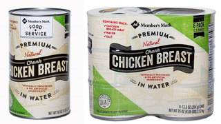 Recall issued for more than 95,000 pounds of canned chicken sold at Sam's Club