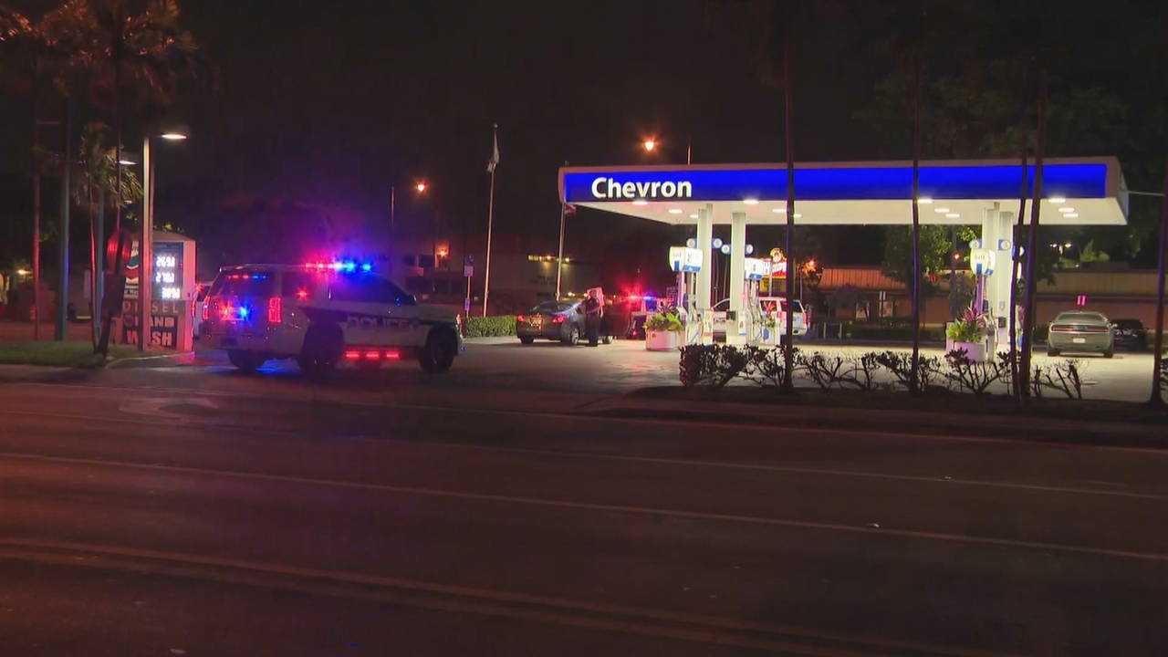 Chevron gas station where shooting victim went for help
