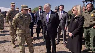 Mattis, Nielsen arrive at US-Mexico border to inspect troops