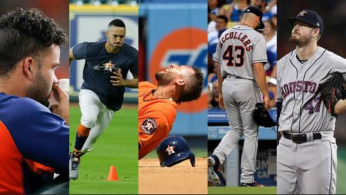 Astros walking wounded: Injury bug hits as stretch run approaches