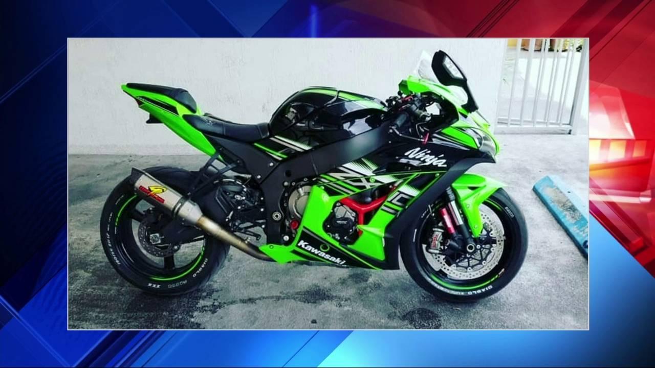 Green Kawasaki stolen in Miami