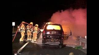 Lanes reopen on I-81 after car fire in Roanoke County