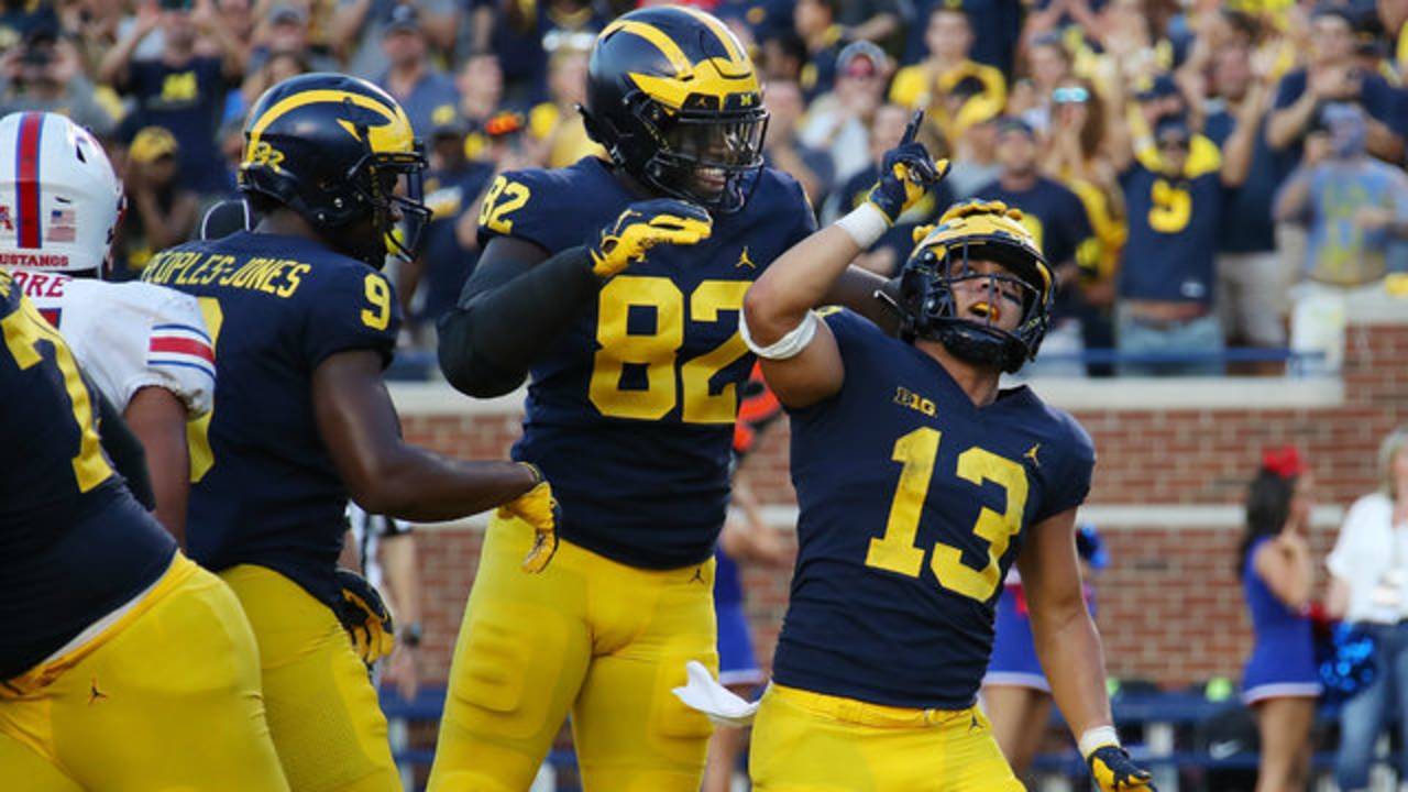 Tru Wilson touchdown Michigan football vs SMU