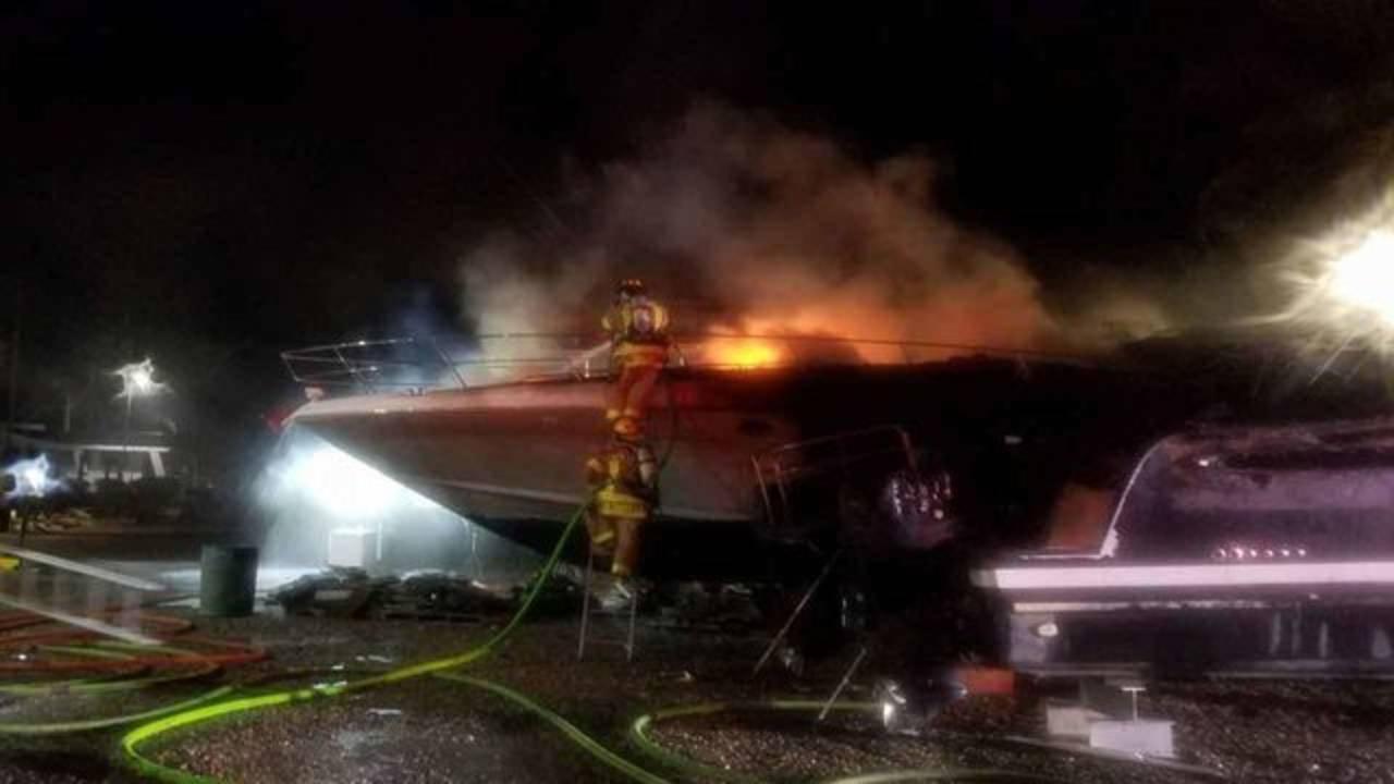 Suspicious boat fire in Islamorada 2
