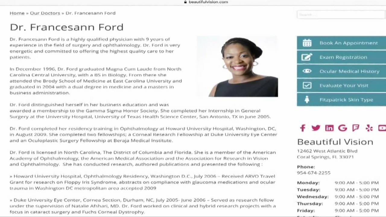 Dr. Francesann Ford bio on website