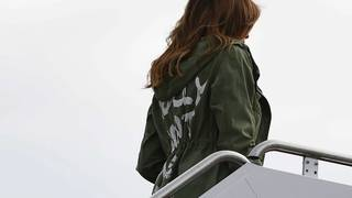 Melania Trump's jacket: 'I really don't care. Do U?'