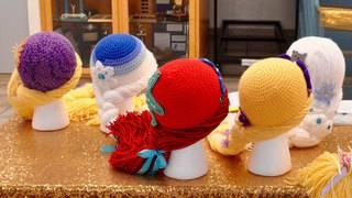 When kids lose hair, yarn wigs transform them