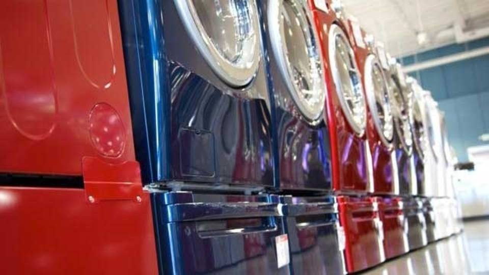 Washers, dryers, colorful, appliance store_471551478849844