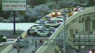 Icy conditions factor in huge car pileup on Loop 410 ramp