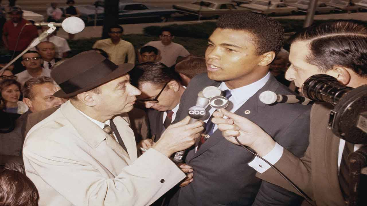 Cassius Clay or Muhammad Ali and Howard Cosell
