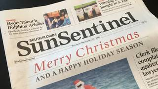 Computer virus prevents delivery of South Florida Sun Sentinel