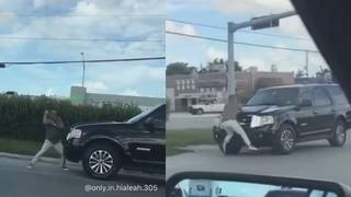 Hot in Hialeah: Wild road rage captured on video