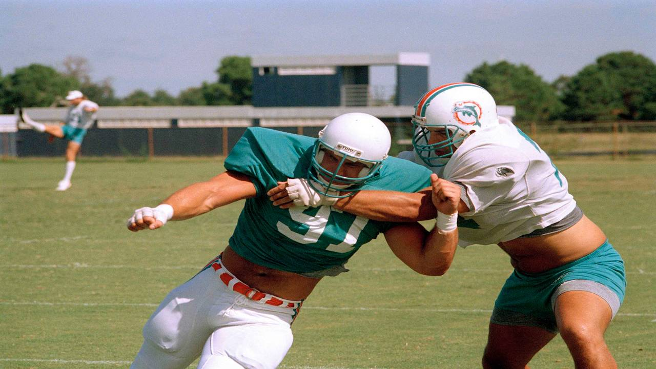 John Bosa at first Dolphins workout in 1987
