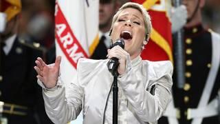 Singer Pink defends Super Bowl performance