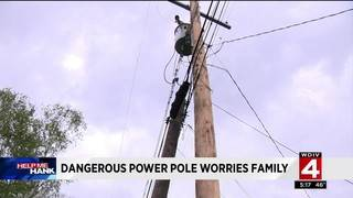 Dangerous power pole worries Metro Detroit family