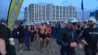 Hundreds of athletes hit the beach for Fort Lauderdale triathlon