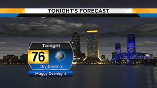 Isolated storms left over this afternoon, dry & muggy tonight
