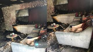 Single mother, 2 children lose possessions after Christmas tree catches fire