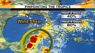 Chance of development for system in tropics increases to 80 percent
