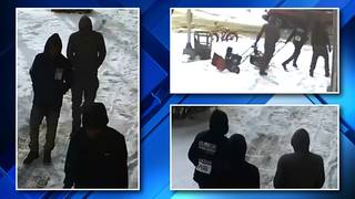 Surveillance video: Police seek snowblower thieves