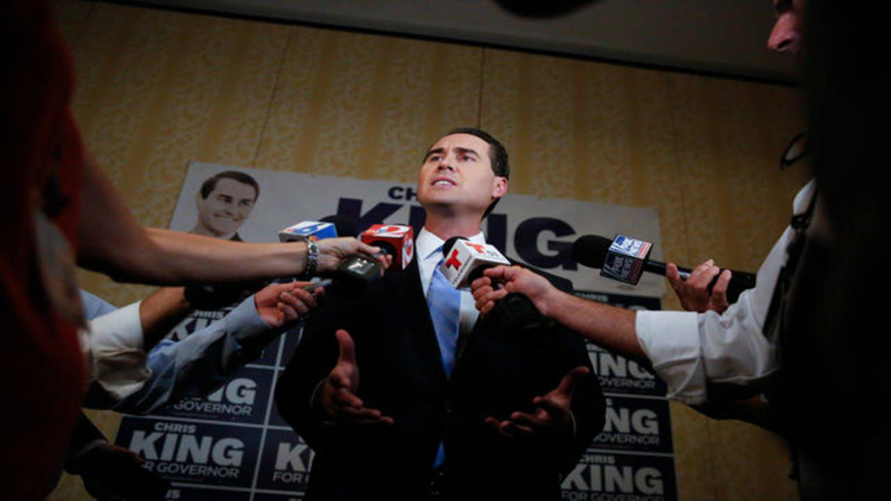 Chris King speaks to media after final Democratic gubernatorial debate in Palm Beach Gardens