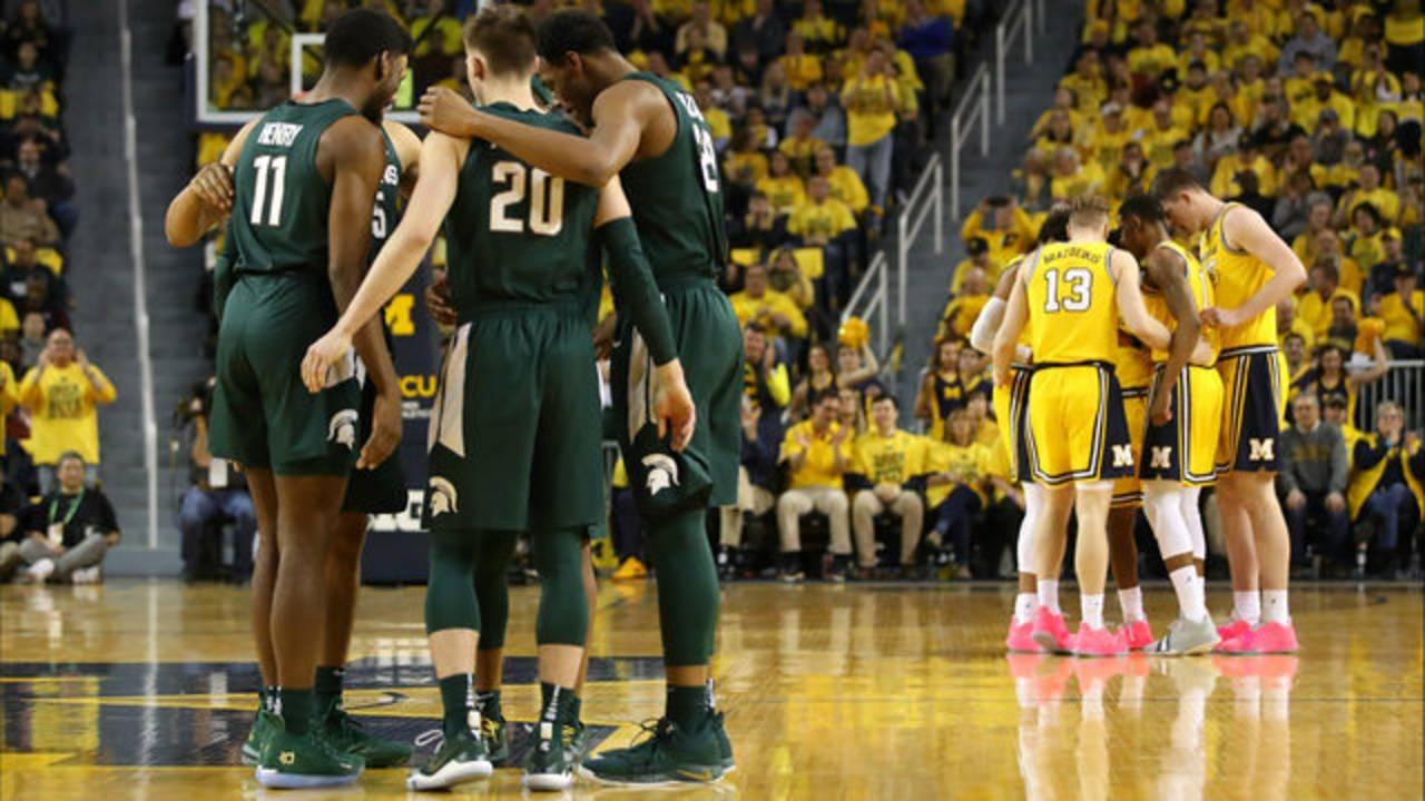 Michigan vs Michigan State basketball 2019