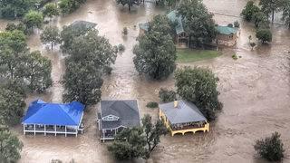 Dramatic flooding video: Aerial view of Lake LBJ Dam
