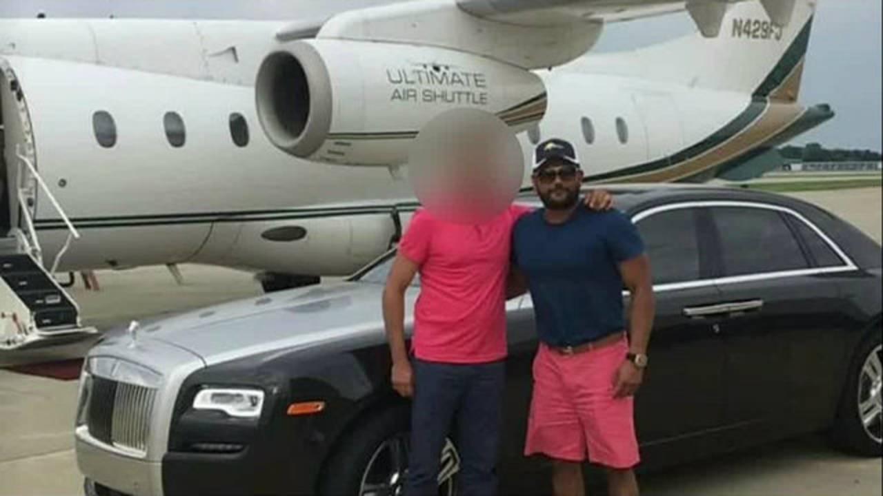 Mashiyat Rashid in front of car and jet