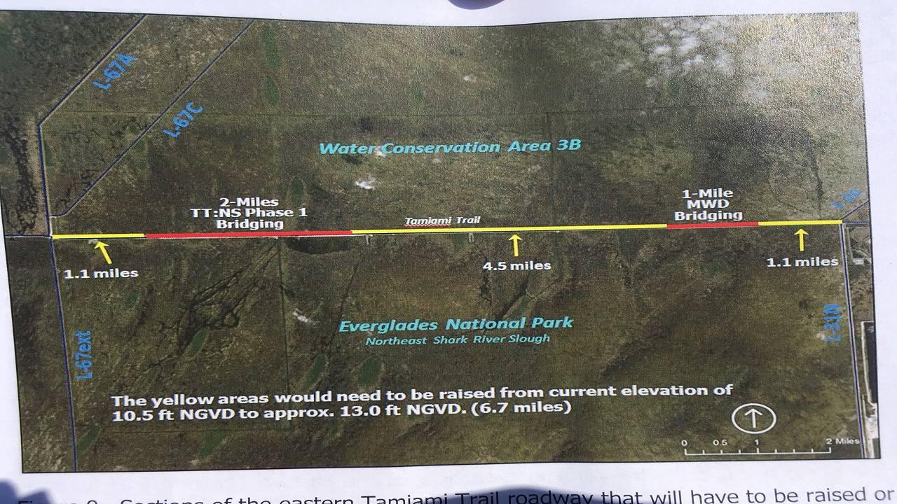 Map of Everglades Restoration Project