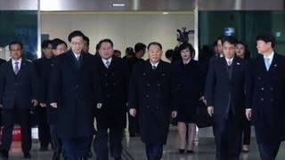 North Koreans arrive for PyeongChang Games closing ceremony
