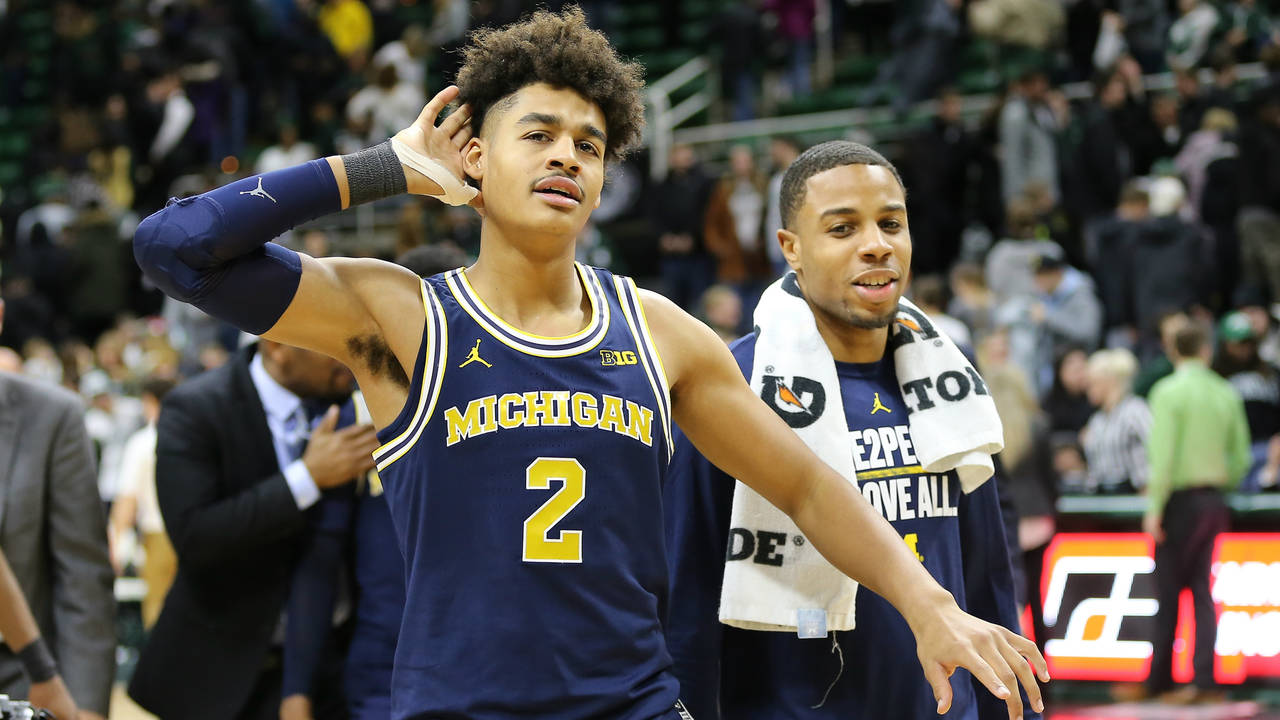 Jordan Poole Michigan basketball vs Michigan State 2018