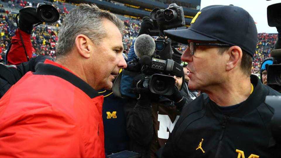 Jim Harbaugh and Urban Meyer Michigan football vs Ohio State 2017