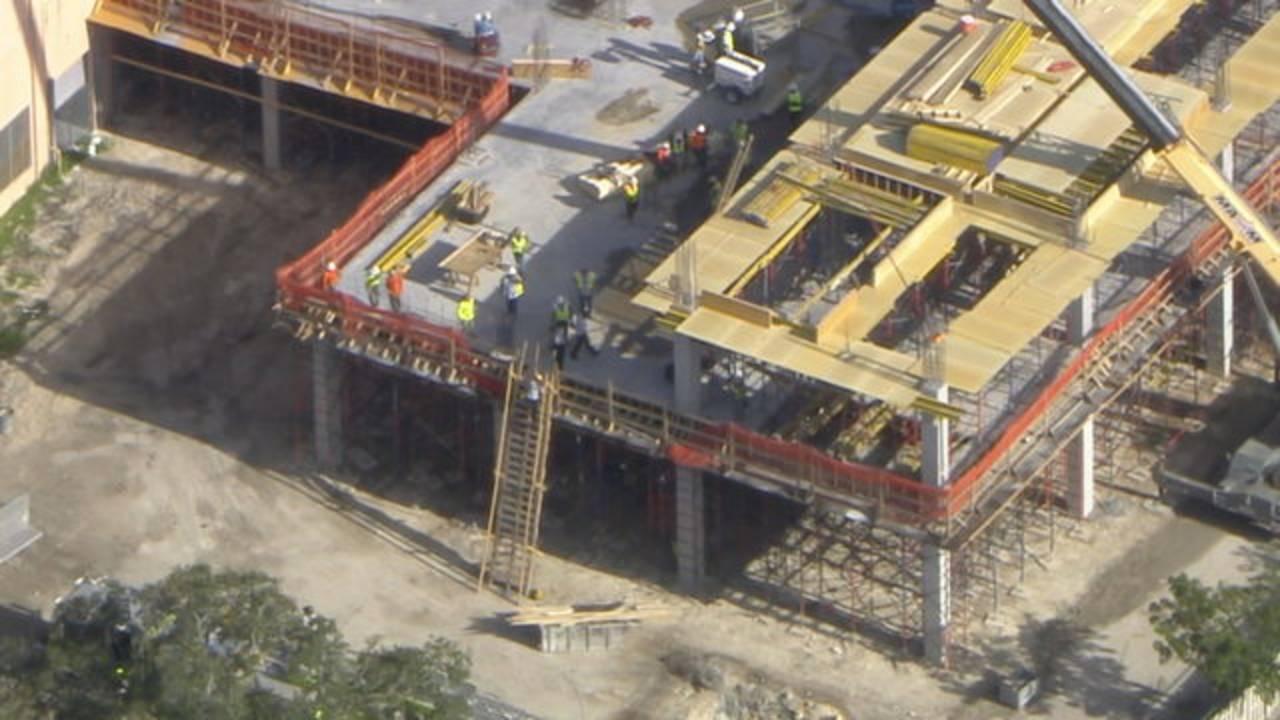 Building under construction at baptist