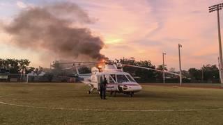 Florida Keys air ambulance catches fire during landing