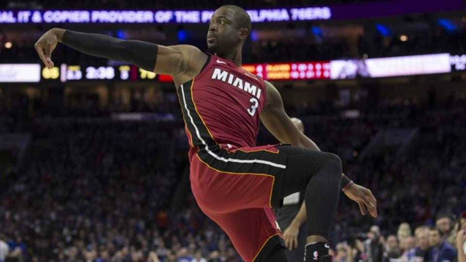 Dwyane Wade during Game 2 of 2018 NBA playoffs first round97859610-75042528