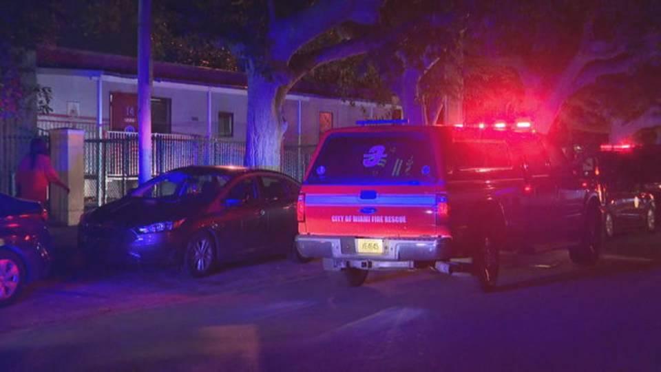 Scene of Miami firefighter death