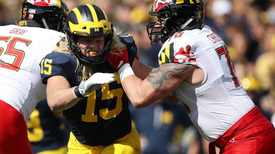 Chase Winovich Michigan football vs Maryland 2018
