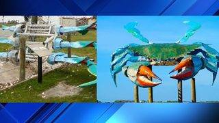 Repairing big blue crab statue next as Rockport recovery continues
